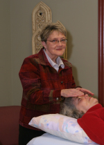 Marita in a reiki session